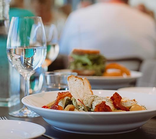 Dagens lunch på Riviera Strand i Båstad