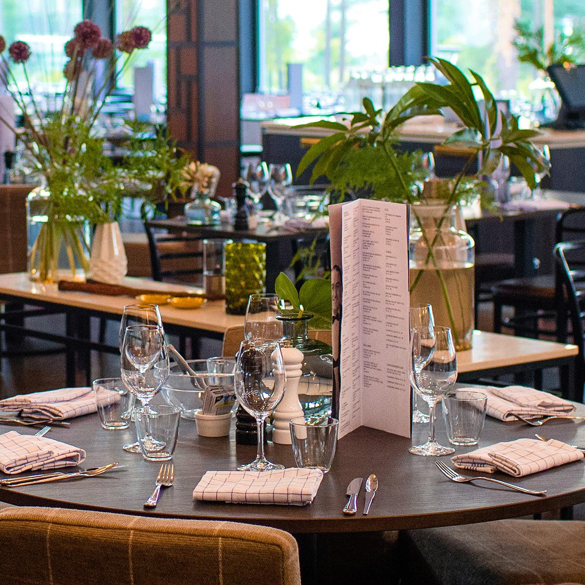Dukat bord på Restaurang Riviera Hotel Riviera Strand i Båstad.