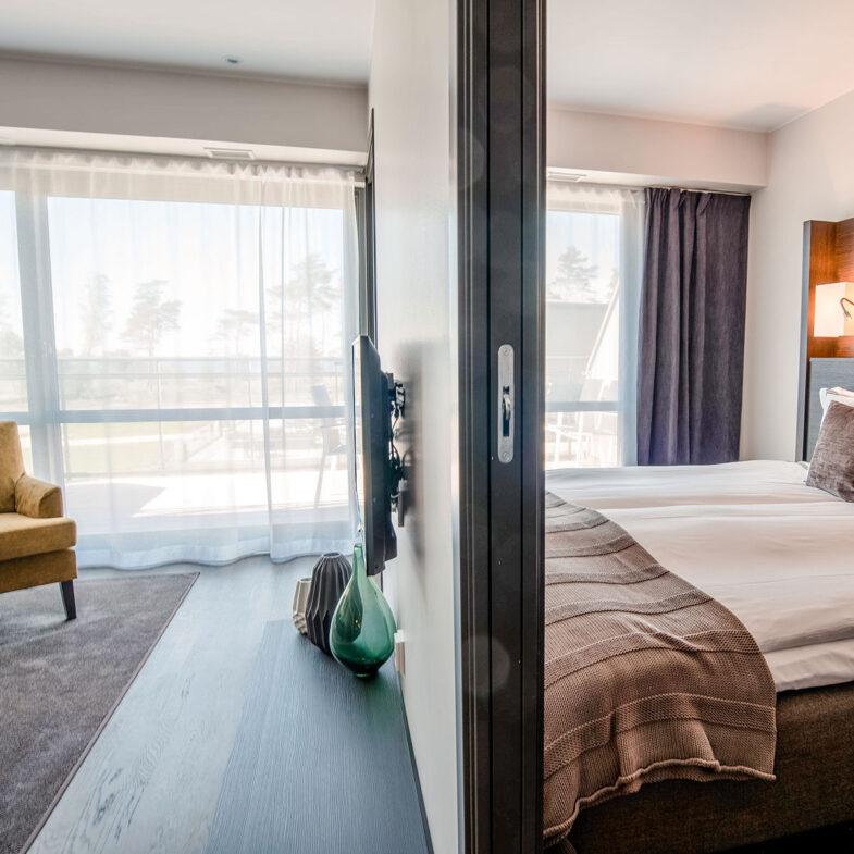 Hotellrum på Hotel Riviera Strand.