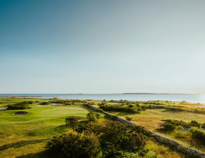 Utsikt över havet från Torekovs Golfklubb