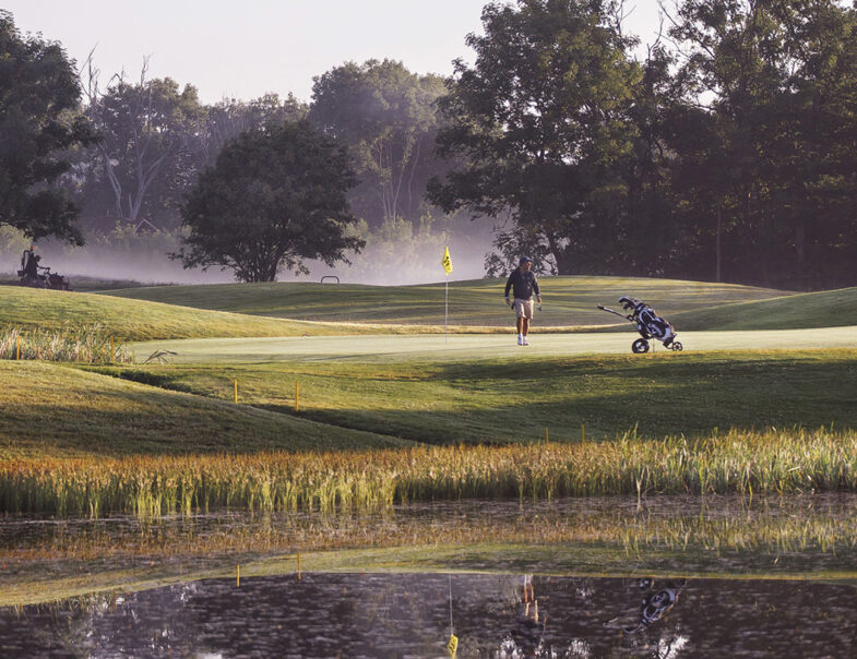 Utsikt över Bjäre Golfklubb
