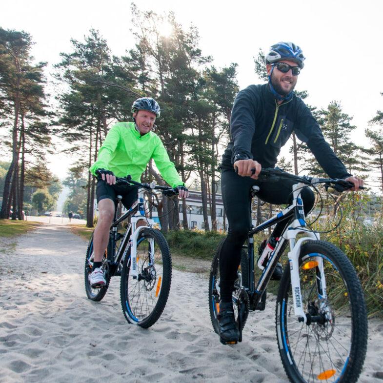 MTB på stranden i Båstad