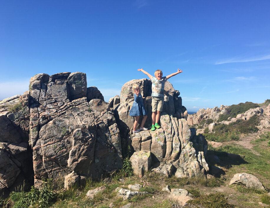 Familjeutflykt på Kullaberg