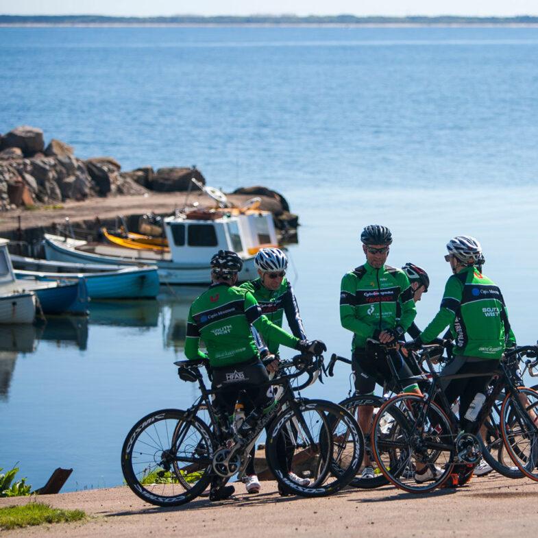 Cykling på Bjärehalvön - utsikt över Kattvik