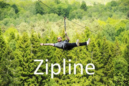 Zipline på Hallandsåsen